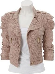 Online Fashion Shop Shop women fashion accessories and clothes Lace Jacket, Tweed Jacket, Jacket Dress, Brown Jacket, Lady Like, Fashion Pants, Fashion Outfits, Fashion 2017, Womens Fashion