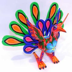 Mexican Alebrijes – Flower Peacock