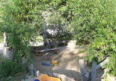 Sandkasten Und Schattendach Aus Weide --> Ideen: Spielgeräte für Kinder, Spielpaltzgeräte, Spielplatzgestaltung, Schattendach im Kindergarte...