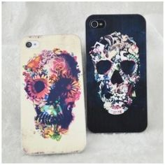 Punk Flower Skull Painted Iphone Cases For iphone 4/4s/5 for only $11.99 ,cheap Creative Iphone Cases - Iphone Accessories online shopping,It is a cool punk skull iphone case!