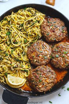 Cheesy Garlic Burgers with Lemon Butter Zucchini Noodles - . - Tarifimvar Cheesy Garlic Burgers with Lemon Butter Zucchini Noodles - . Cheesy Garlic Burgers with Lemon Butter Zucchini Noodles - . Meat Recipes, Low Carb Recipes, Cooking Recipes, Recipies, Paleo Keto Recipes, Pepperoni Recipes, Easy Steak Recipes, Cooking Corn, Freezer Recipes