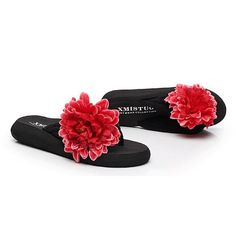 a75b8a0eb20 Big size women leisure slippers bohemia flip flops flower decoration sandals  3 slippers for 399