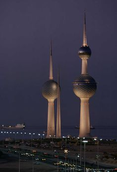 Kuwait Tower, Kuwait City, we made great friends over the years while visiting there.