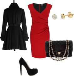 """""""Red dress"""" by smiles92191 on Polyvore"""