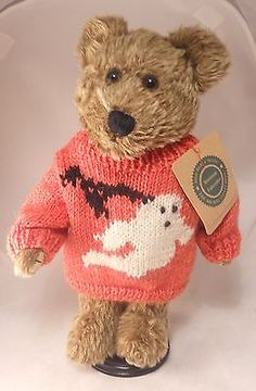 Boyds-Bears-Plush-HALLOWEEN-Bear-GUS-GHOULIE-In-Orange-Ghost-Bat-Sweater