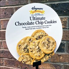 Ultimate-Cookie Table-Top Sign Stand Cookie Display, Cookie Bakery, Cookie Table, Visual Merchandising, Chocolate Chip Cookies, Feel Good, Chips, Sign, Baking