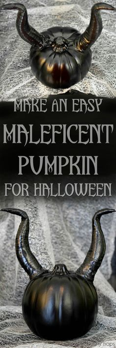 Show your villainous side with this easy to make Maleficent pumpkin!