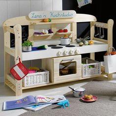 Spielküche selber bauen - Bauanleitung für Spielherd und Kochutensilen