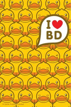 Duck i love bd Duck Wallpaper, Cool Wallpaper, Iphone Wallpaper, Cute Wallpapers, Adventure, Life, Ducks, Yellow, Comic