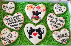 Mickey and Minnie Anniversary Cookies  Maybe Betty Boop cookies/cake