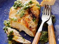 Sauteed Chicken Breasts with Fresh Herbs and Ginger