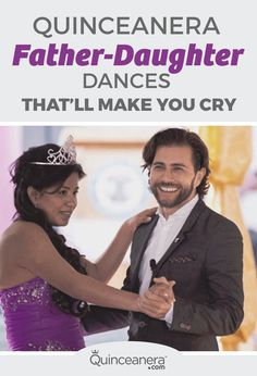 Quinceanera Father-Daughter Dances That'll Make You Cry <br> Take a look at some of our favorite father-daughter dances from these lovely Quinceaneras and get inspiration to come up with your own! Quinceanera Dances, Quinceanera Traditions, Quinceanera Planning, Quinceanera Party, Dad In Spanish, Martha Stewart, Father Songs, Father Daughter Dance Songs, Wedding Playlist