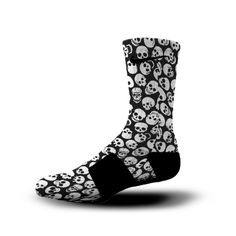 Black and White Skull Socks | Custom Designed Socks