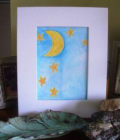 Nursery Wall Art Decor Moon Twinkle Little Star by kzannoart, $15.00