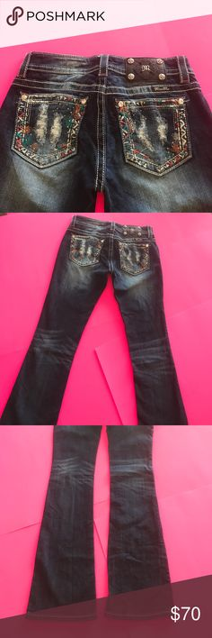 Miss Me jeans size 26 Almost new! Worn around 2-3 times just don't fit me anymore Miss Me Jeans Boot Cut