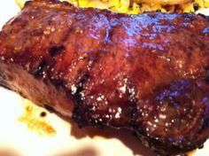 """New York Strip Steak """"Easy Steak Marinade"""" Strip Steak Marinade, Steak Marinade Recipes, Grilled Steak Recipes, Grilling Recipes, Beef Recipes, Cooking Recipes, Steak Marinades, Yummy Recipes, New York Steak Recipe"""