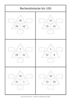 Rechendreiecke bis 100 #rechnen #Mathe #maths #freebie