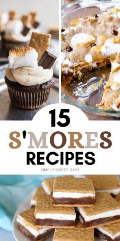 Do you love warm, gooey marshmallows and chocolate? Then you'll love these 15 sweet s'mores recipes. And the best part is you can make them at home! Delicious Desserts, Dessert Recipes, Yummy Food, Easy Family Dinners, Easy Meals, Brownies, Sweet Days, Sweetest Day, Fun Activities For Kids