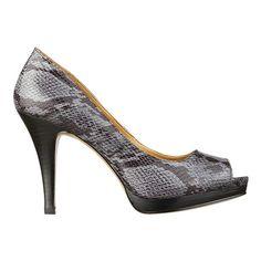 black reptile skin shoe