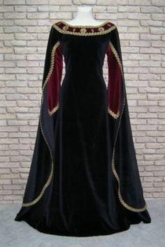 *Prunkvolles*Mittelalter*Brokat*Samt*Gewand*HdR*Robe*Kleid*Gewandung*Ornamente*   eBay