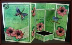 F4A68 Tri Shutter Card with Touch of Nature by MariLynn - Cards and Paper Crafts at Splitcoaststampers