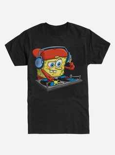 Extra Soft Spongebob Squarepants DJ T-Shirt This t-shirt is Made To Order, one by one printed so we can control the quality. Drag Queen Merch, Spongebob Shirt, Barbie Cartoon, Band Merch, Spongebob Squarepants, Boys T Shirts, Direct To Garment Printer, Tank Top Shirt, Funny Tshirts