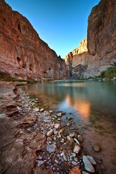In Big Bend National Park in Texas, Boquillas Canyon lies just a short drive from the campground at Rio Grande Village. Another great shot from Anne McKinnell- Texas Travel Destinations Oh The Places You'll Go, Cool Places To Visit, Places To Travel, Vacation Destinations, Dream Vacations, Family Vacations, Family Travel, Texas Vacation Spots, Cruise Vacation