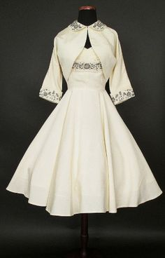 1950's Beaded Halter Party Dress | Catnip Reproduction Vintage Clothing
