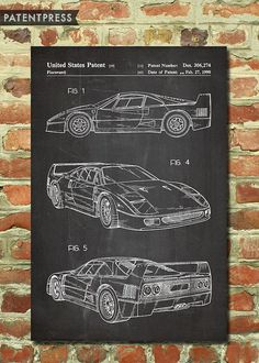 Kid's Bedroom Decor Idea – Race Cars and Racing Race Car Bedroom, Car Themed Bedrooms, Guy Bedroom, Kids Bedroom, Bedroom Ideas, Classic Car Show, Best Classic Cars, Ferrari F40, Race Car Themes