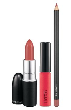 for the perfect 'day to night look' try: 'nude harmony' trio by M·A·C - (just add liner + gloss at night!)