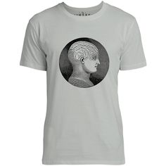 Mintage Antique Phrenology Head Mens Fine Jersey T-Shirt (Silver)