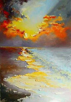 inspiration painting palette ideas knife oil alt 15 15 ideas painting inspiration oil palette knife altYou can find Abstract art painting and more on our website Simple Oil Painting, Painting & Drawing, Watercolor Painting, Dandelion Painting, Painting Clouds, Oil Painting Flowers, Watercolor Artists, Painting Videos, Painting Lessons