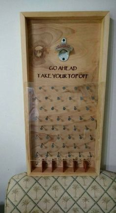 A great game to hang at your bar or man-cave. Sure to add fun to your parties or tailgates A wonderful gift to use for any holiday, wedding, and birthday. We can customize the bottom sayings to your liking free of charge. The corners are boxed splined w Pallet Projects, Home Projects, Woodworking Projects, Kids Woodworking, Wood Crafts, Diy And Crafts, Men Crafts, Diy Wood, Man Cave Crafts