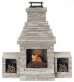 Dollhouse Miniature Large Garden Patio Fireplace,Closeout!