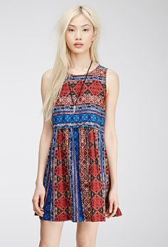 Abstract Tile Print Dress | FOREVER21 - 2000135566