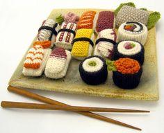 Crochet food at Etsy:  Yummy!