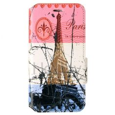MELOCO Colored Drawing Wallet Style Magnetic Flip Stand TPU+ PU Leather Case for iPhone 6 Plus 6S Plus 5.5 inch (Eiffel Tower)