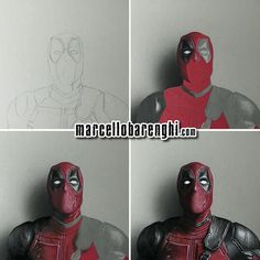3D Portrait of Deadpool by Marcello Barenghi