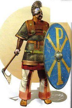 Roman/Byzantine officer, VI cent. AD.