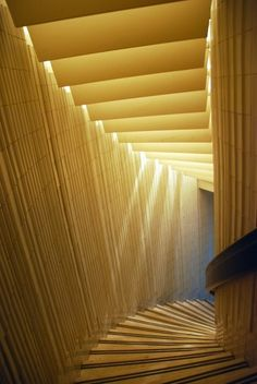 Ještěd Tower marble stairway by christina carrera