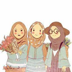 slamic anime ve tesett r Cartoon Kunst, Cartoon Art, Cute Cartoon, Hijab Drawing, Anime Friendship, Friend Cartoon, Islamic Cartoon, Anime Muslim, Hijab Cartoon