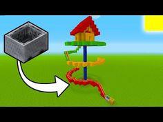 """Minecraft Tutorial: How To Make A Roller Coaster House """"Mini Roller Coaster"""" Cool Minecraft Banners, Minecraft Banner Designs, Cute Minecraft Houses, Minecraft House Designs, Minecraft Decorations, Amazing Minecraft, Minecraft Crafts, Minecraft Buildings, Minecraft Garden"""