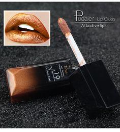 2017 New Matte Metallic liquid matte lipstick Long Lasting Makeup Velvet Red Lips tattoo Lip Gloss Nude Lip tint batom Cosmetics #Affiliate