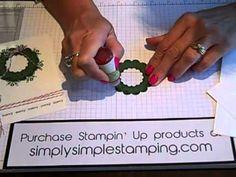 Simply Simple FLASH CARD Holiday Wreath by Connie Stewart