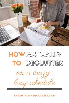 You are busy, you have a lot on your schedule. But you also want to declutter your home. I give you 2 options on how to declutter your home on a busy schedule.