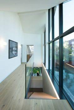 Vorraum Obergeschoss   Ausgang Dachterrasse: Moderner Flur, Diele U0026  Treppenhaus Von Von Mann Architektur