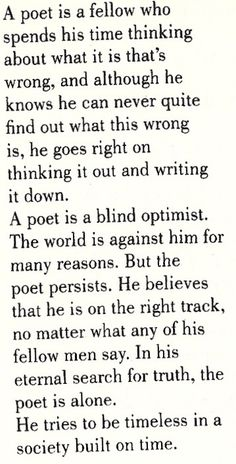 """""""Definition of a Poet"""" by Jack Kerouac (1941, nineteen years old)"""