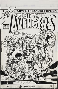 Marvel Treasury Edition #7  The Mightly Avengers by Jack Kirby. Always great to see his work on a larger scale.