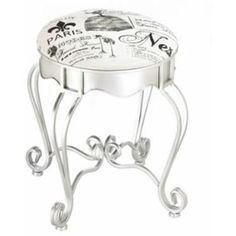 Pretty In Paris Foot Stool- Free Shipping