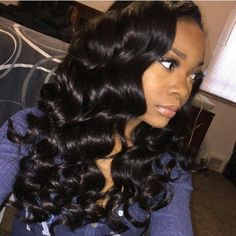 Affordable 9A Grade luxury 100% virgin human hair distributed in the U.S.A. Achieve this look with our luxury line of Malaysian Loose Wave hair extensions, available in lengths 12 - 26 inches. www.vipextensionbar.com email info@vipextensionbar.com